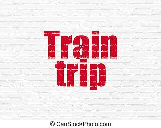 mur, voyage,  train, fond, Voyage,  concept: