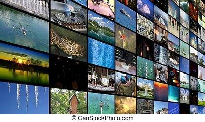 mur, widescreen, vidéo, fond