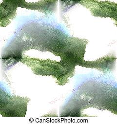 Mural  background green, blue seamless pattern