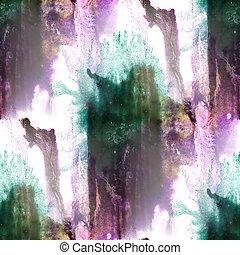 Mural  background purple, green, black seamless pattern backgrou