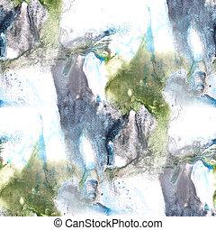 Mural  background  seamless blue green pattern