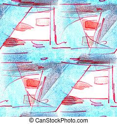 Mural background seamless  pattern blue plane  texture