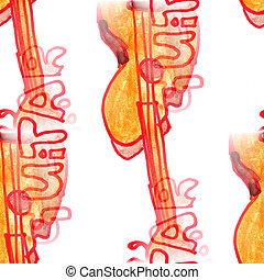 Mural background seamless  pattern guitar  texture