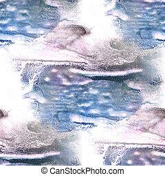 Mural black, blue background  seamless pattern