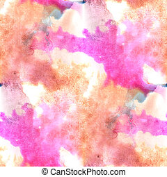 Mural brown, pink, blue background seamless pattern...