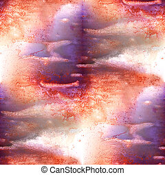 Mural brown, purple background  seamless pattern
