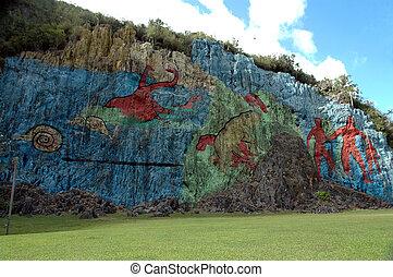 Mural de la Prehistoria, landmark in valle vinales