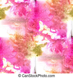 Mural green, pink background  seamless pattern