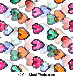 Mural heart background seamless pattern  texture wall