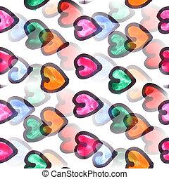 Mural heart background seamless pattern texture wall - Mural...