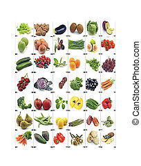 Mural of fruits and vegetables
