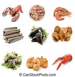 Mural of seafood