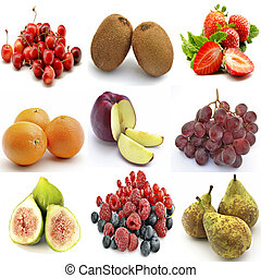 Mural of several fruits