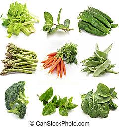 Mural of several vegetables