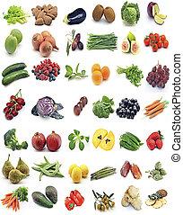 murale, di, frutta verdure