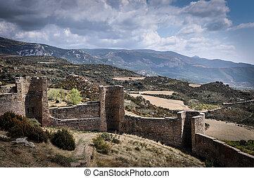 murallas, de, del, castillo, loarre