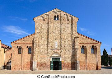 Murano church facade, Venice