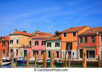 Murano island - View of Murano, island of Venice lagoon, ...