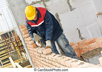 muratore, lavoratore costruzione, muratore