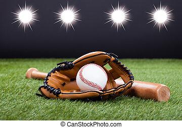 murciélago, guante de béisbol