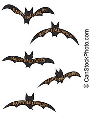 murciélago, halloween, siluetas