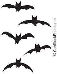 murciélago, siluetas