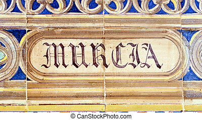 Murcia - Laying ceramic letters the name from the Spanish...