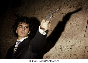 Murder in action: the gangster is gonna push the trigger!