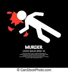 Murder Vector Illustration.