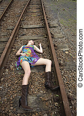 Murder unsolved - Girl lies dead on the railway tracks