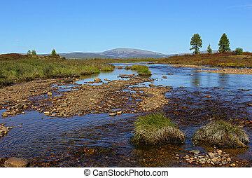 Murgudu creek in South Yakutia, in clear weather