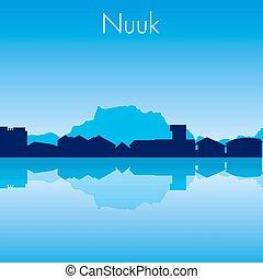 Murmansk Vector skyline