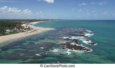 Muro Alto beach, Porto de Galinhas, Brazil - Aerial view of...