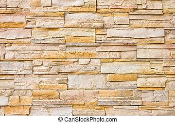 muro di mattoni, per, fondo