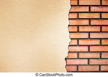 muro di mattoni, struttura
