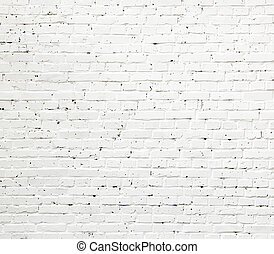 muro di mattoni, struttura, bianco