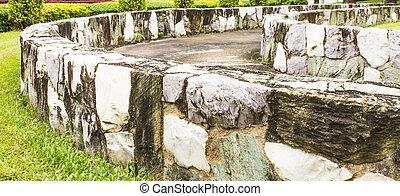 muro sostegno, garden.