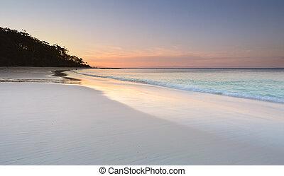 murrays, strand, sundown, sereniteit