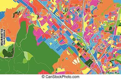 Murrieta, California, USA, colorful vector map