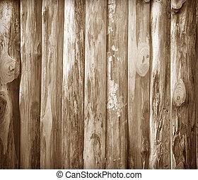 murs, bois