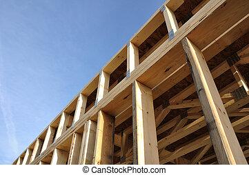 murs, encadré, vue, sous-sol