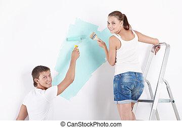murs, peinture