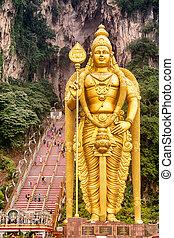 murugan, -, kuala, statua, malaysia., lumpur