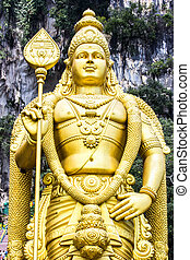 Murugan the Hindu God of war and victory. This statue of ...