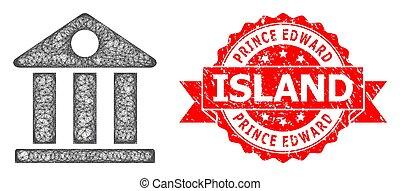 musée, détresse, linéaire, edward, île, icône, timbre, ...