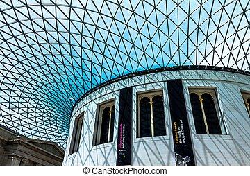 musée, intérieur, intérieur, britannique