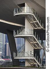 musée science, escalier, singapour