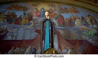 musées, vatican, rome, statue, italie, marie