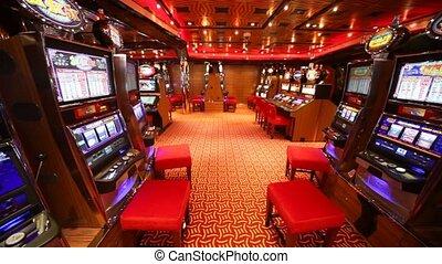 MUSCAT - APRIL 13: slot machines in Costa Deliziosa - the...