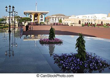 muscat, palais, sultans